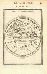 EASTERN HEMISPHERE. Parallels of Latitude. Southern continent. MALLET 1683 map