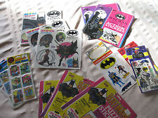 Super Hero Stickers Collection (mainly Batman) - Vintage, Rare