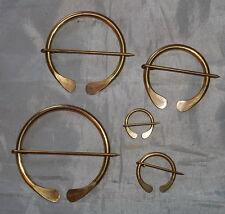 "Pins (3/4""-3"") - Mountain Man-New Set of Handmade Solid Brass Cloak/Blanket/Coat"