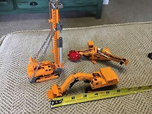 3 DIE CAST METAL CONSTRUCTION EQUIPMENT PRECISION SHINSEI PILE DRIVER ASPHALT