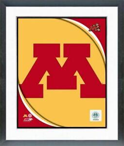 "Minnesota Golden Gophers Team Logo Composite Photo (Size: 12.5"" x 15.5"") Framed"