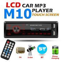 AUTORADIO KFZ MP3 PLAYER FREISPRECH-EINRICHTUNG 1 DIN FM USB AUX IN Bluetooth