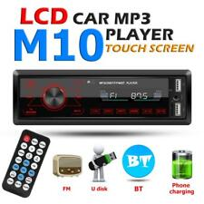 Single 1DIN Car Stereo MP3 Player In Dash Bluetooth AUX-in USB Radio Head Unit