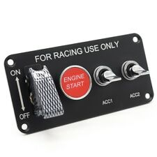 Racing Car Toggle Switch Panel Engine Start Push Button Ignition LED 4in1 12V
