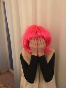 Karneval Perücke, Bob, pink