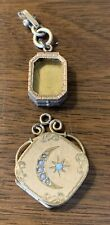 Two GOLD FILLED WATCH FOB LOCKET VERY PRETTY EXC CONDITION