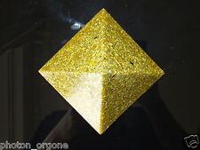 Oro de 23k Orgón De Energía Auric campo Armonizador Pirámide Azul Zafiro Granate Ruby