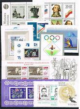 Poland - Selection of 12 MNH Souvenir sheets B - XF
