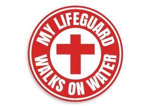 Jesus Lifeguard Sign, Inspirational Sign, Decorative Faith Metal Sign