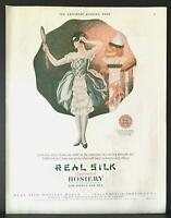 1925 Real Silk Hosiery Halloween Costume Jack 'O Lantern Roy Best Art Print Ad
