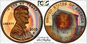 2009-S LINCOLN EARLY CHILDHOOD PCGS PR69CAM BEAUTIFUL RAINBOW TONING! *TRUEVIEW*