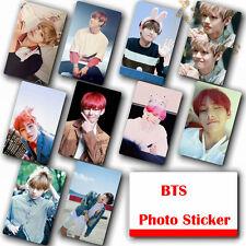 10Pcs / Set Kpop Bangtan Boys V HD Lustre Photocard Crystal Card Sticker