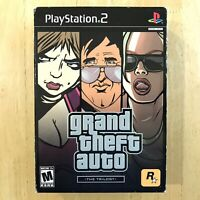 Grand Theft Auto Trilogy Playstation 2 PS2 Complete Manual Map GTA 3 SEALED