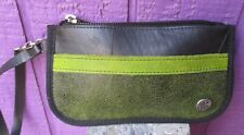ARIA HANDMADE *NEW*  Wristlet Bag Recycled Rubber & Leather Purse Barrio