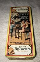 "Bristol Ware Uneeda Biscuit National Biscuit Co Collectible Tin 9""x4"" FIG NEWTON"