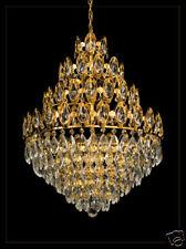 MAJESTÄTISCHER KRONLEUCHTER 4 EBENEN ECHTES BLEI-KRISTALL (Nur Silber verfügbar)