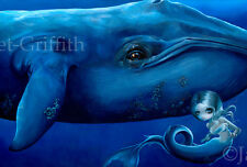 Jasmine Becket-Griffith art print marine fairy mermaid sea SIGNED Big Blue Whale