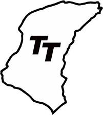 Isle of Man TT race circuit track outline manx roadrace sticker decal x1