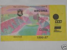 ANCONA - SORA TICKET BIGLIETTO 1996/97 SERIE C