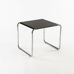 1960s Marcel Breuer for Knoll / Gavina Laccio Side / End Table in Black Laminate