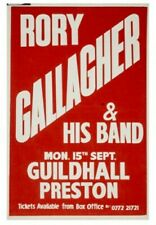 RORY GALLAGHER gig poster Preston Guildhall 15.09.1980