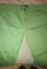 Used Men's LRG Slim Straight Green Skater JEANS Sz 36/30 2012 Rare Lifted