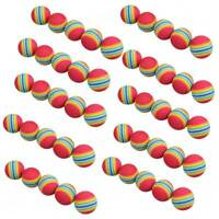 50pcs Golf Swing Training Aids Indoor Practice Sponge Foam Rainbow Balls Home h9