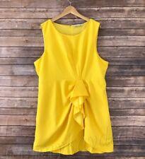 Women's Plus Size Renn Sleeveless Shift Dress Yellow size 1X 2X 3X New