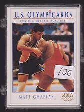 (100) 1992 OLYMPIC HOPEFULS MATT GHAFFARI WRESTLING CARDS #104 ~ GIANT LOT  IRAN