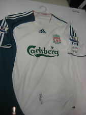 LIVERPOOL- STEVEN GERRARD HAND SIGNED 2006-07 THIRD JERSEY + PHOTO PROOF + C.O.A