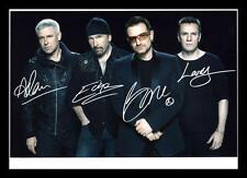 U2 AUTOGRAPHED SIGNED & FRAMED PP POSTER PHOTO