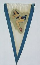 ORIGINAL 1950s aerial pennant with sexy pin-up girl for Vespa Lambretta scooter
