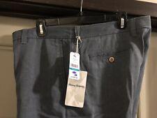Tommy Bahama Mens Havana Herringbone Flat-Front Golf Shorts Size 36 Blue Ink