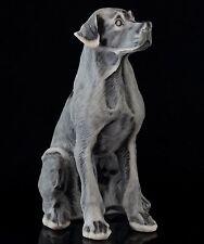Sitting Great Dane Marble Sculpture Russian Stone Art Animal Figurine Dog Statue