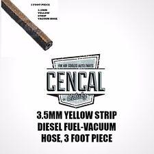 VOLKSWAGEN 3.5MM YELLOW STRIP DIESEL VACUUM-FUEL HOSE 3 FOOT PIECE N203535