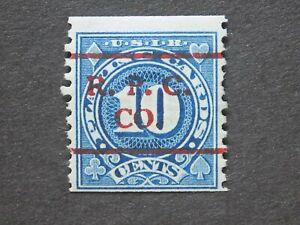 (1) U S  MNH 10 cent Playing Card stamp-Scott # RF20-R.P.C. CO stamp