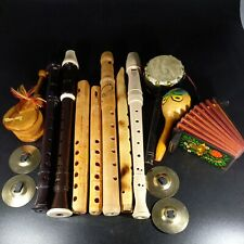 More details for job lot of 13 x musical instruments recorders & wood instruments