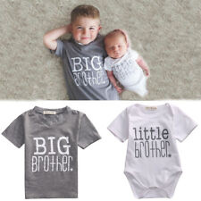 Big/Little Brother Matching Clothes Tops Toddler Infant Baby Boy T-shirt Romper