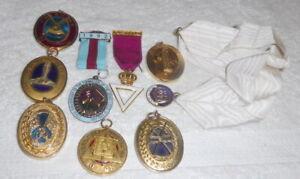 Job lot of Masonic collar jewels (9)