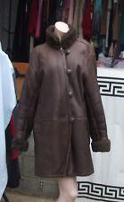 Exquisite Original Yves Saint Laurent Sheep Skin Sheerling Leather Swing Coat 10