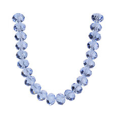 Hot 10pcs Rondelle Faceted Crystal Glass Spacer Beads Jewelry Accessories 12mm