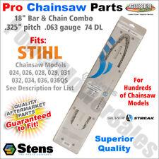 """18"""" Bar & Chain Stihl Chainsaws 024, 026, 028, 029, 031, 032, 034, 036, 036QS"""