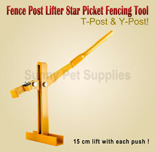Star Picket Fence Post Lifter Puller Steel Pole Remover Fencing Farming Tool