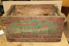 Coca Cola Wood Box with Green Lettering