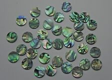 """Paua Abalone Shell Solid 1/4"""" (6.35mm) dots inlay position markers 100 pcs."""