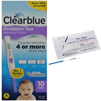 CLEARBLUE Ovulation Advanced Digital Dual Hormone Indicator Tests+Pregnancy Kits