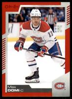 2020-21 UD O-Pee-Chee Red Border #157 Max Domi - Montreal Canadiens
