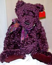 Gund Mohair Bear named Plum Pudding 1st Edition  220/375 New