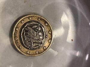 piece de 1 euro grece hibou eypo 2002
