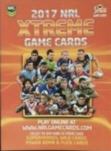 2017 NRL Xtreme Base Card Team Set (10 Cards)